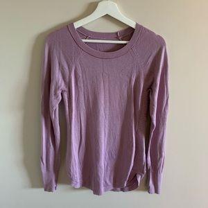 lululemon cozy knit crewneck sweater lilac purple